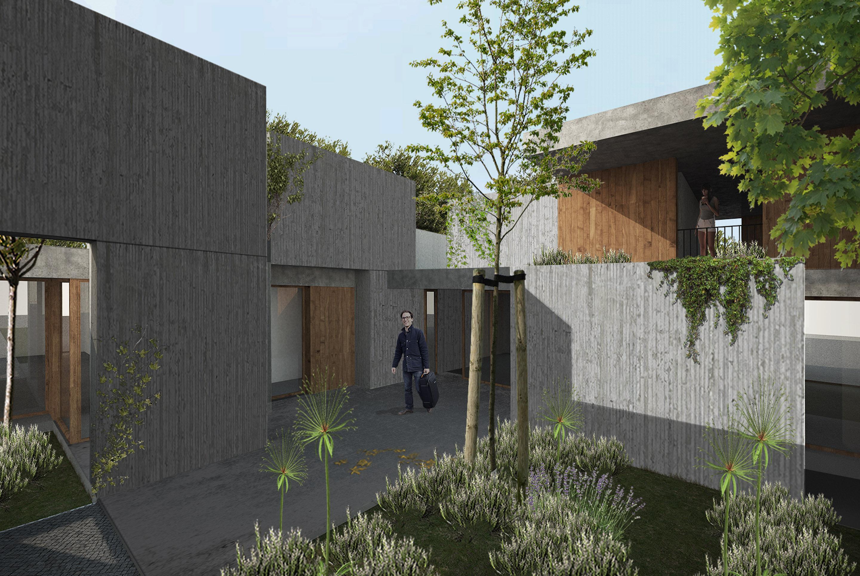 Arquitectura Arquitetura Arquitecto Arquiteto Architecture Architect House Housing concrete betão wood madeira ecoturismo ecoresort eco hotel rural Alenquer restaurante restaurant bar